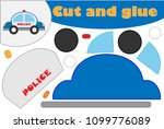 police car in cartoon style ... | Shutterstock .eps vector #1099776089