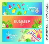 summer sale. vector set... | Shutterstock .eps vector #1099779668