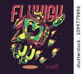 tv flyhigh illustration | Shutterstock .eps vector #1099779896