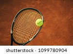 close up of tennis ball and...   Shutterstock . vector #1099780904
