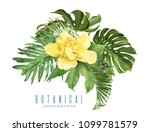 vector tropical leaves... | Shutterstock .eps vector #1099781579