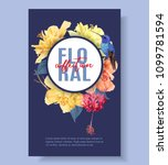 vector tropical banner with... | Shutterstock .eps vector #1099781594