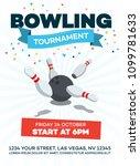 modern bowling tournament... | Shutterstock .eps vector #1099781633