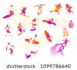 vector illustration of people... | Shutterstock .eps vector #1099786640