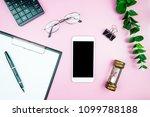 flat lay mock up creative... | Shutterstock . vector #1099788188