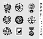 awards badge vintage set.... | Shutterstock .eps vector #1099788383
