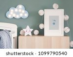 stylish nursery interior with... | Shutterstock . vector #1099790540