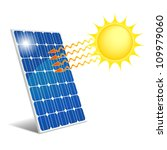 photovoltaic panel exposed to... | Shutterstock . vector #109979060