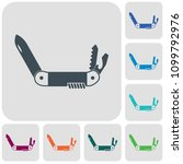 camping knife icon. vector... | Shutterstock .eps vector #1099792976