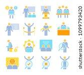 business management  meeting ... | Shutterstock .eps vector #1099793420