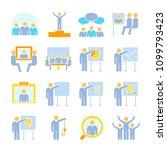 business management  meeting ...   Shutterstock .eps vector #1099793423