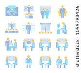 business management  meeting ... | Shutterstock .eps vector #1099793426