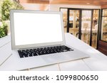 modern computer laptop with... | Shutterstock . vector #1099800650