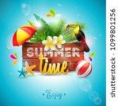 vector summer time holiday... | Shutterstock .eps vector #1099801256