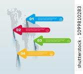 world map infographic template... | Shutterstock .eps vector #1099810283