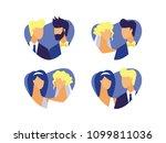 set of flat vector characters... | Shutterstock .eps vector #1099811036