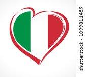 love italy  heart emblem... | Shutterstock .eps vector #1099811459