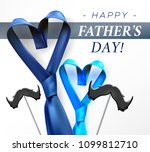 fathers day gift post greeting... | Shutterstock .eps vector #1099812710