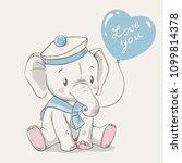 vector illustration of a cute... | Shutterstock .eps vector #1099814378
