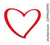 heart shape isolated on white... | Shutterstock .eps vector #1099818590