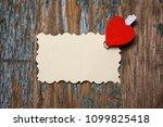 white sheet of paper love notes ...   Shutterstock . vector #1099825418