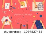 colorful horizontal banner with ... | Shutterstock .eps vector #1099827458