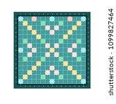 scrabble or erudite square... | Shutterstock .eps vector #1099827464