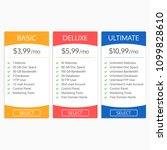 pricing table template. hosting ... | Shutterstock .eps vector #1099828610