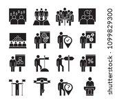 business management  meeting ... | Shutterstock .eps vector #1099829300