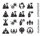 business management  meeting ... | Shutterstock .eps vector #1099829339