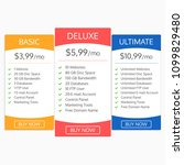 pricing table template. hosting ... | Shutterstock .eps vector #1099829480