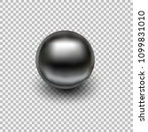 chrome metal ball realistic... | Shutterstock .eps vector #1099831010