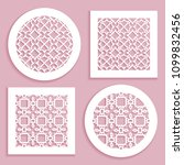 templates for laser cutting ... | Shutterstock .eps vector #1099832456