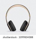 vector realistic headphone for... | Shutterstock .eps vector #1099834388