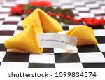 fortune cookie with message all ... | Shutterstock . vector #1099834574