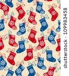 Christmas Red And Blue Socks...