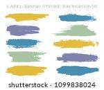 minimal label brush stroke... | Shutterstock .eps vector #1099838024