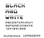 black and white font. vector... | Shutterstock .eps vector #1099838999