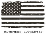 black and white usa flag.vector ... | Shutterstock .eps vector #1099839566