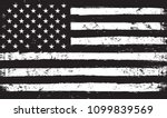 black and white usa flag.vector ... | Shutterstock .eps vector #1099839569