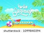 summer vector illustration and...   Shutterstock .eps vector #1099840394