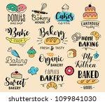 bakery labels  logos  hand... | Shutterstock .eps vector #1099841030