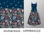 vertical fantasy flowers... | Shutterstock .eps vector #1099844123