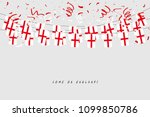 England Garland Flag With...