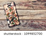 italian bruschetta with cheese... | Shutterstock . vector #1099852700