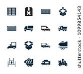 deliver icon. collection of 16... | Shutterstock .eps vector #1099854143