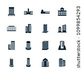 cityscape icon. collection of... | Shutterstock .eps vector #1099854293