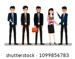 group of business man and woman ... | Shutterstock .eps vector #1099856783