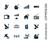 antenna icon. collection of 16... | Shutterstock .eps vector #1099858286