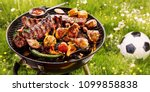 summer or spring barbecue... | Shutterstock . vector #1099858838